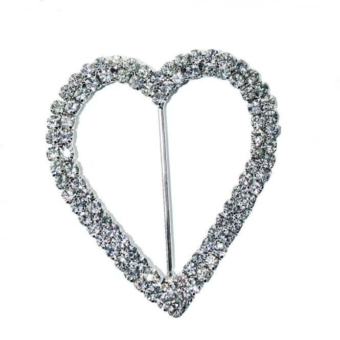 The Cake Decorating Co. Large Heart Crystal Diamante Buckle Decoration
