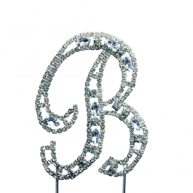 The Cake Decorating Co. Letter B Diamante Crystal Embellishment Cake Decoration