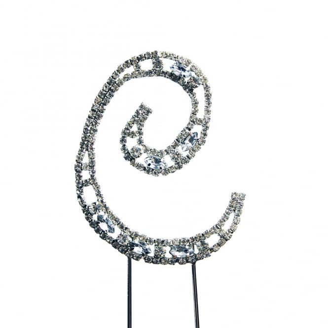 The Cake Decorating Co. Letter C Diamante Crystal Embellishment Cake Decoration