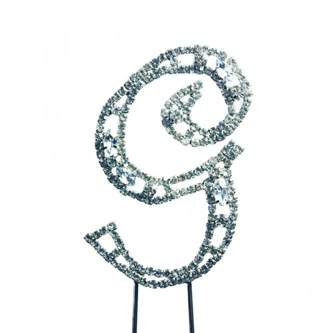 The Cake Decorating Co. Letter G Diamante Crystal Embellishment Cake Decoration