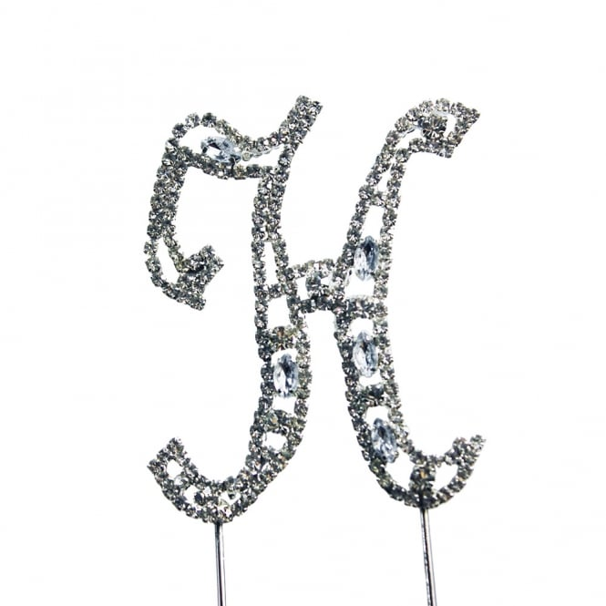 The Cake Decorating Co. Letter H Diamante Crystal Embellishment Cake Decoration