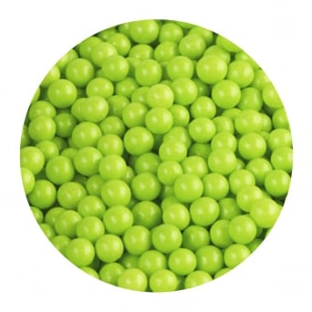 Lime Green - 6mm Edible Pearls - 500g