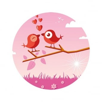 Love Birds Edible Images