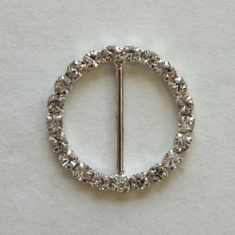 Medium Circle Crystal Diamante Buckle Decoration