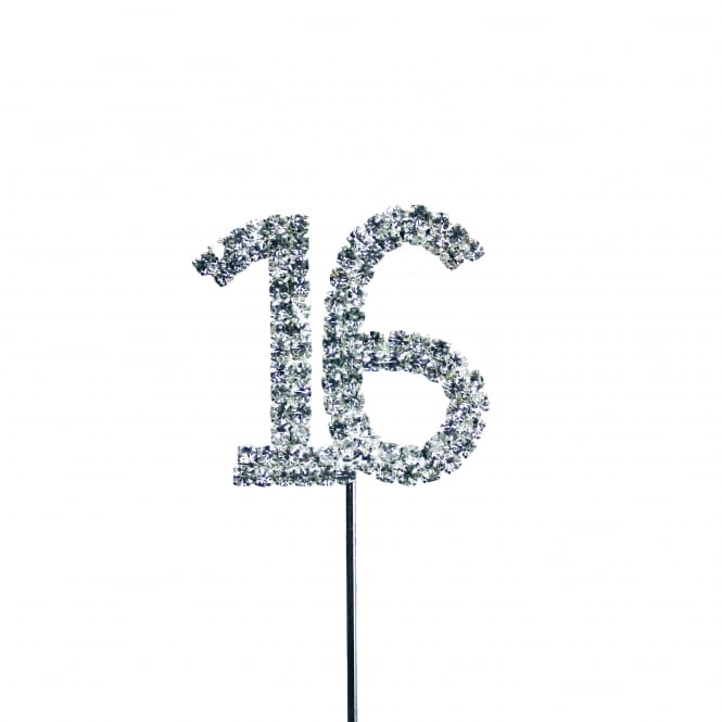 The Cake Decorating Co. Number 16 Diamante Embellishment Cake Decoration