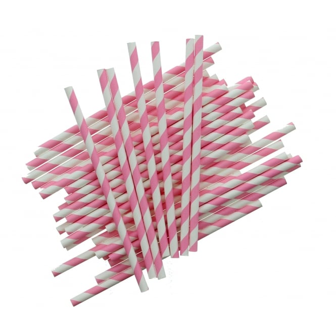The Cake Decorating Co. Pack Of 25 - Candy Stripe Cake Pop Sticks