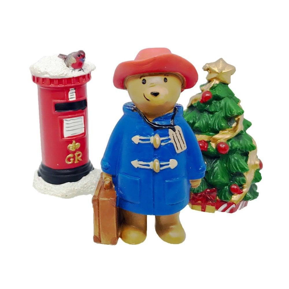Christmas Cake Toppers.Paddington Bear Christmas Cake Decorations Set