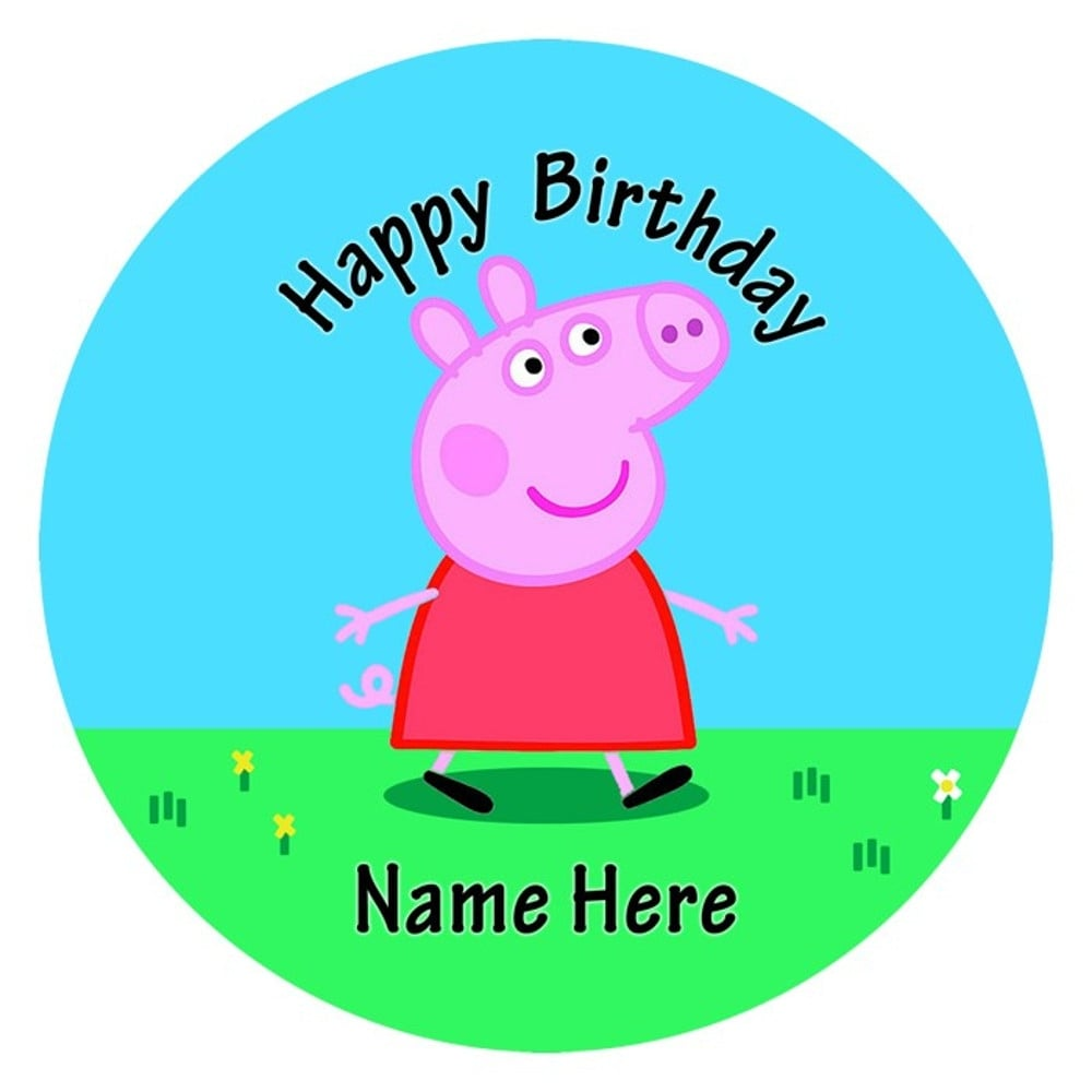 Peppa Pig Edible Images Cupcake Toppers