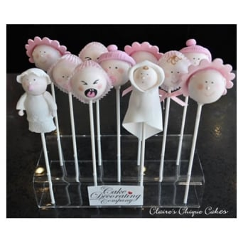 Perspex Cakepop Stand Holds 11 Pops