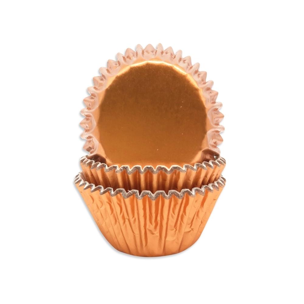 Petite Rose Gold Mini Cupcake Cases x 60