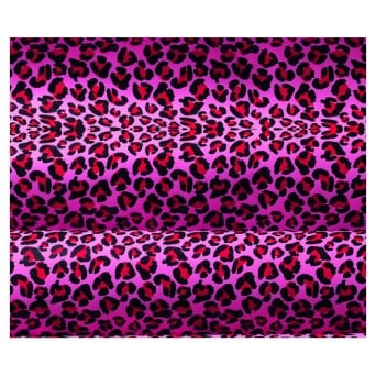 Pink Leopard Print Chocolate Transfer Sheet