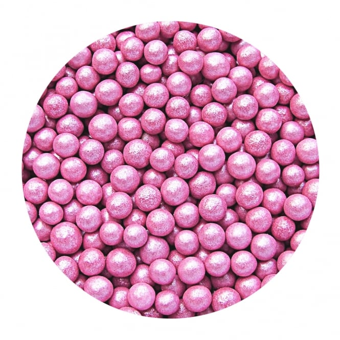 The Cake Decorating Co. Pink Pearlised - 6mm Pearls - 65g