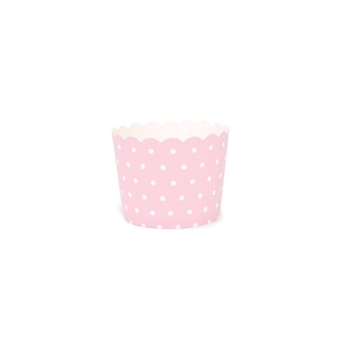 The Cake Decorating Co. Pink With White Spots Cupcake Cases x 100 Cups