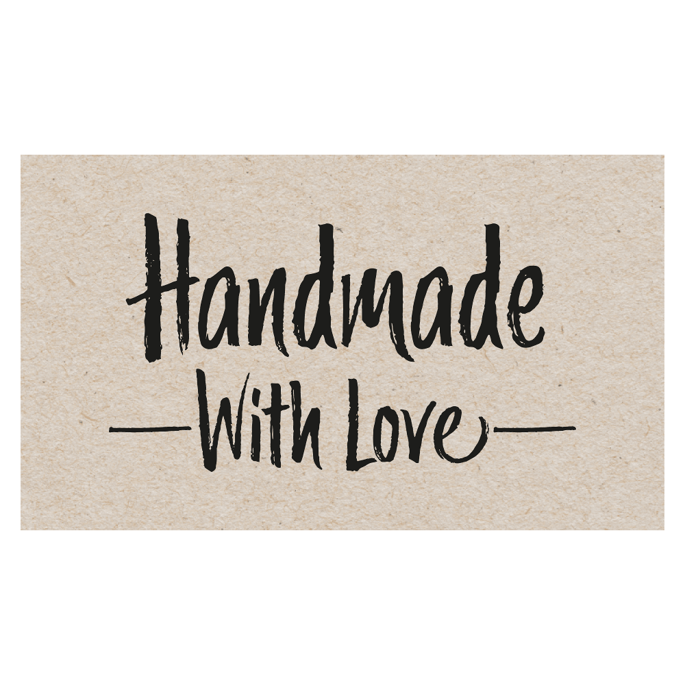 Rectangle 'Handmade With Love' Sticker Label Roll of 100