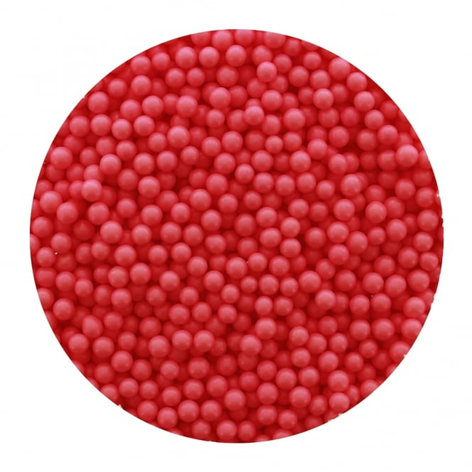 The Cake Decorating Co. Red - 4mm Edible Pearls - 500g