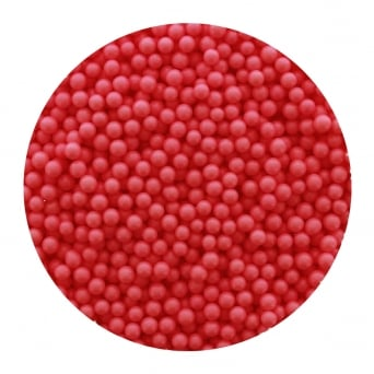 Red - 4mm Edible Pearls - 500g
