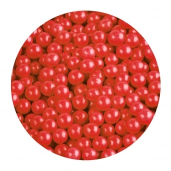 Red - 6mm Edible Pearls - 500g