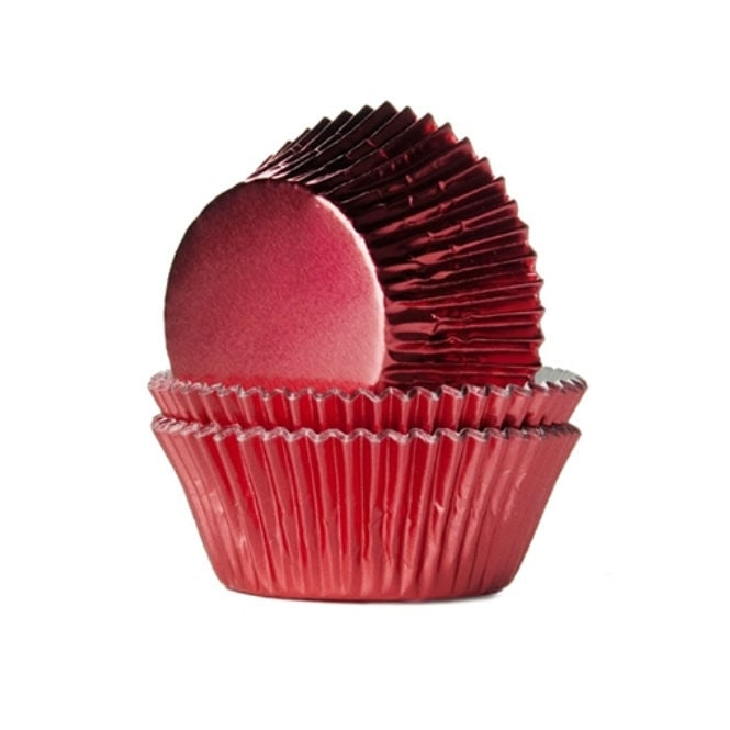 The Cake Decorating Co. Red - Foil 50mm Baking Cases x 500 Cups