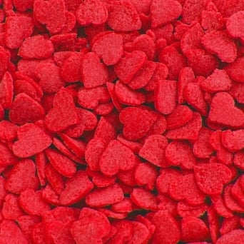 Red Heart Confetti Sprinkles 65g