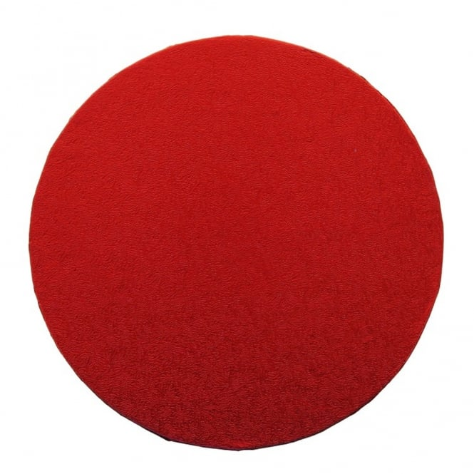 The Cake Decorating Co. Red Round Drum Cake Board - Choose A Size
