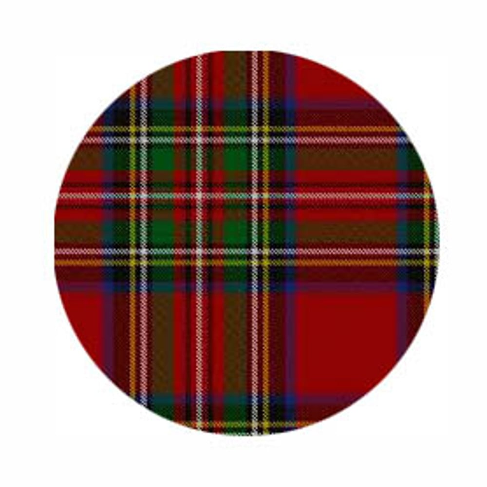 Red Tartan Edible Image | Cake Toppers