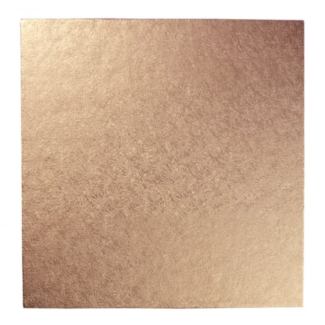 The Cake Decorating Co. Rose Gold Square Drum Cake Board - Choose A Size