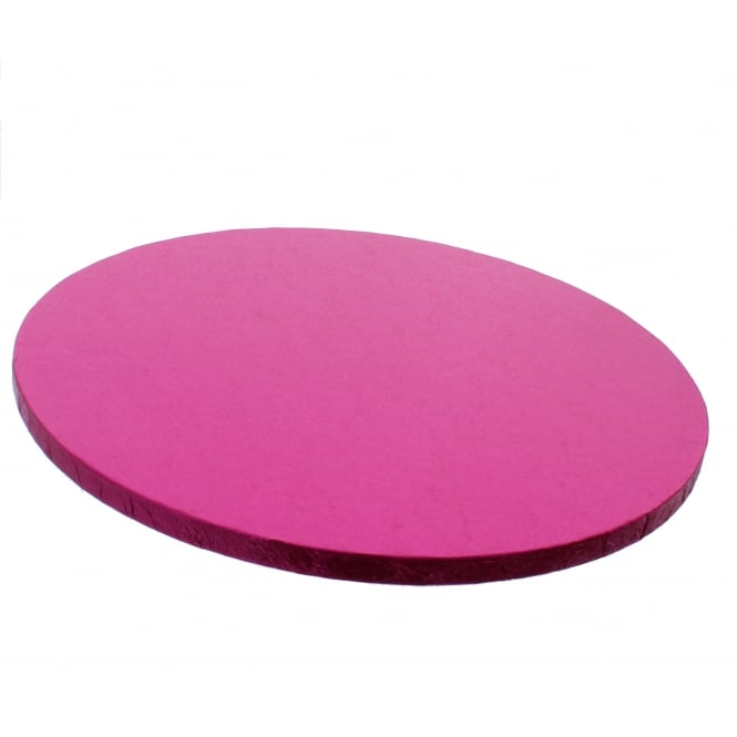 The Cake Decorating Co. Round Cerise Pink Drum Cake Board - Choose A Size