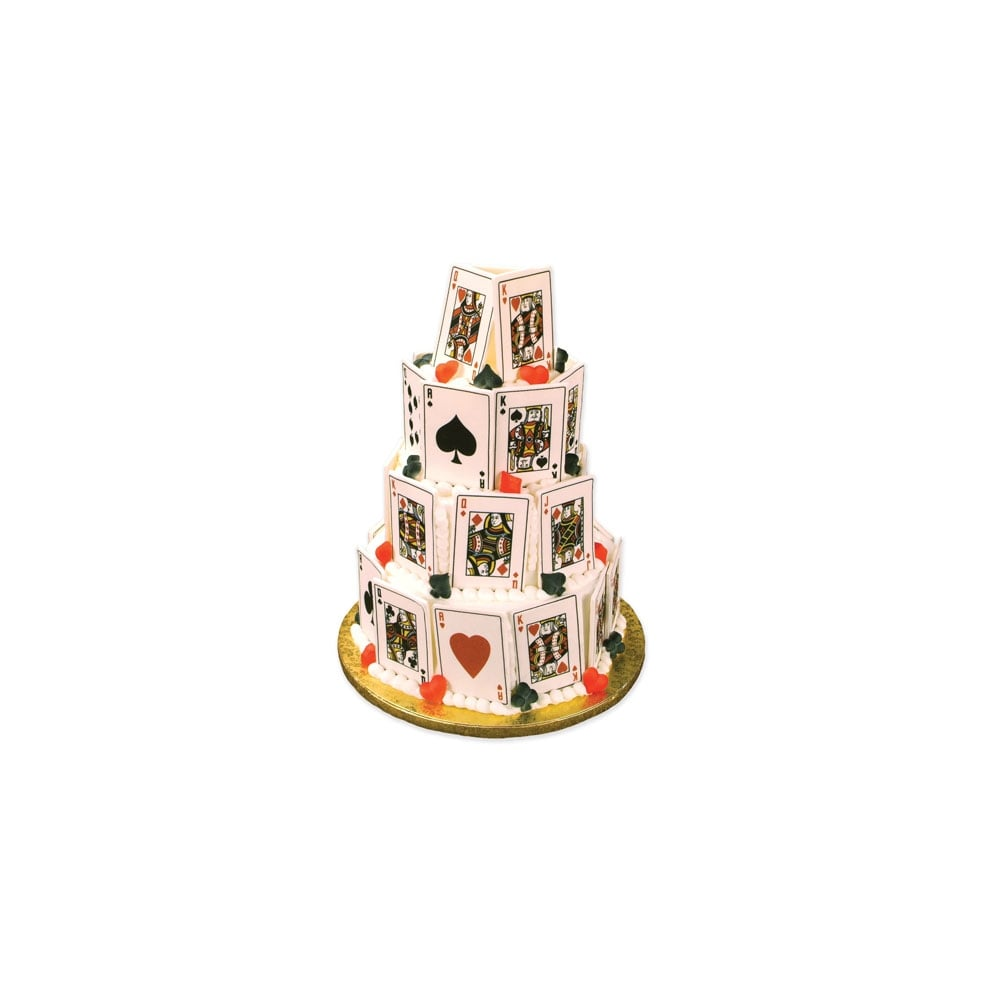 Cake Decorating Company : The Cake Decorating Co. Royal Flush Playing Card Edible ...