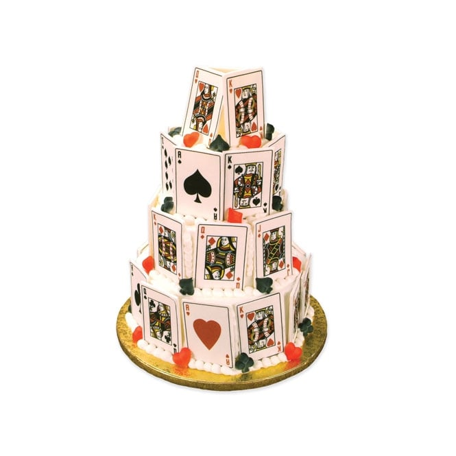 The Cake Decorating Co. Royal Flush Playing Card Edible Images