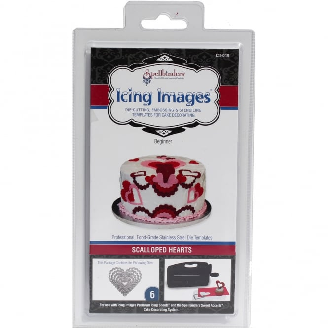 The Cake Decorating Co. Scalloped Heart Die Cutter - Icing Images