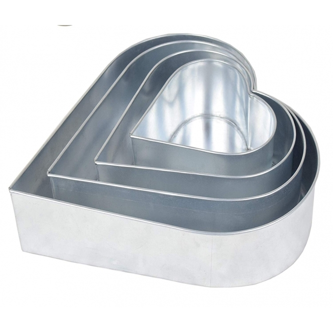 The Cake Decorating Co. Set Of 4 Tier Heart Baking Tins
