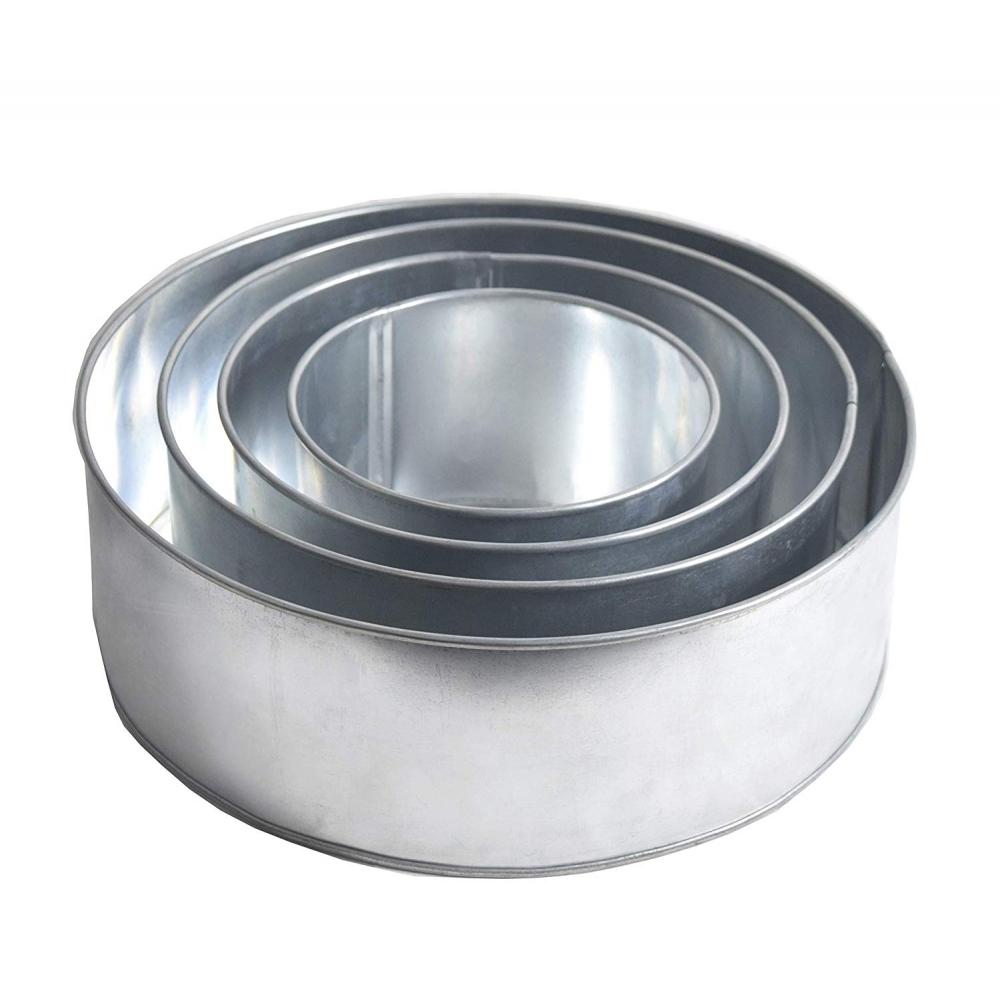 Set Of 4 Tier Round Baking Tins Cake Baking Pans