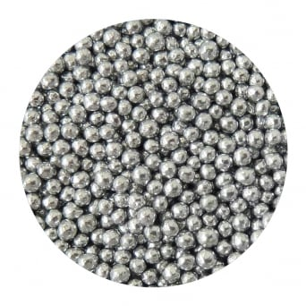 Silver - 4mm Edible Pearls - 500g