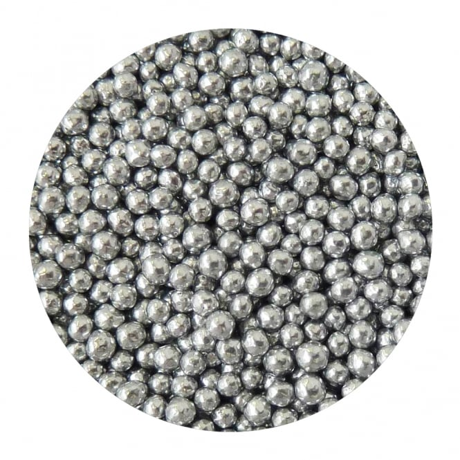The Cake Decorating Co. Silver - 5mm Edible Pearls - 500g