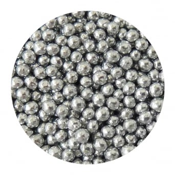 Silver - 6mm Edible Pearls - 500g