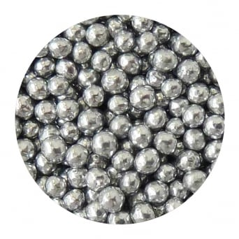 Silver 8mm Edible Pearls Dragees - 500g