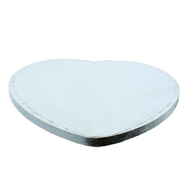 The Cake Decorating Co. Silver Heart Drum Cake Board - Choose A Size