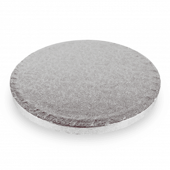 Silver Round Drum Cake Board - Choose A Size
