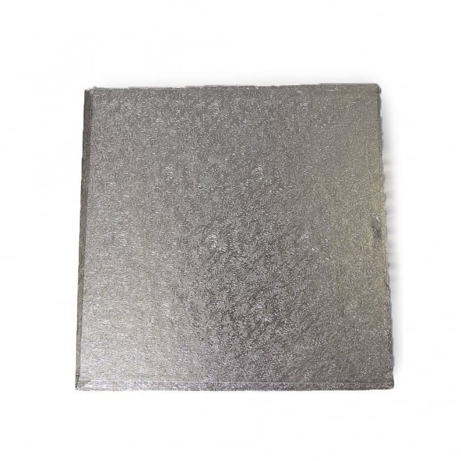 The Cake Decorating Co. Silver Square 3mm Cake Board - Choose A Size