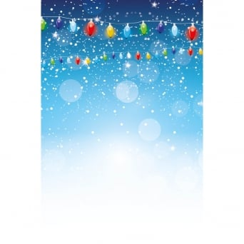 Snowy Christmas Lights Photography Backdrop