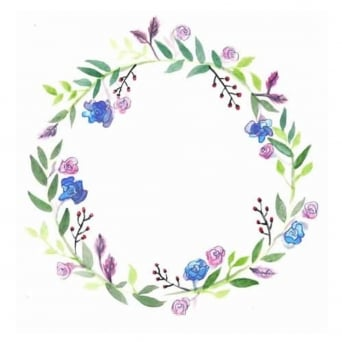 Spring Wreath Edible Images
