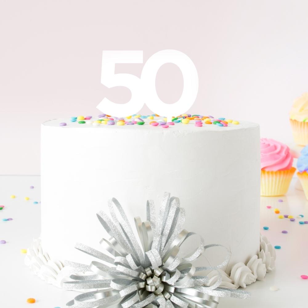 Superb White Birthday Number Acrylic Cake Topper Funny Birthday Cards Online Inifofree Goldxyz