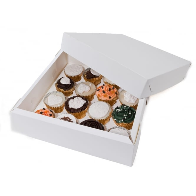 The Cake Decorating Co. White Cupcake Box Holds 16 Cupcakes