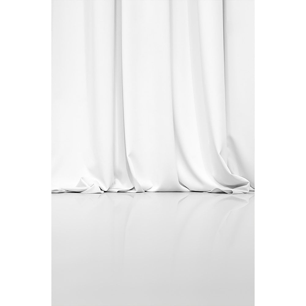 White Curtain Photography Backdrop