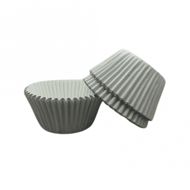 The Cake Decorating Co. White - Foil 50mm Baking Cases x 500 Cups