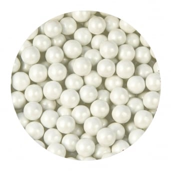 White Pearl 8mm Edible Pearls - 500g
