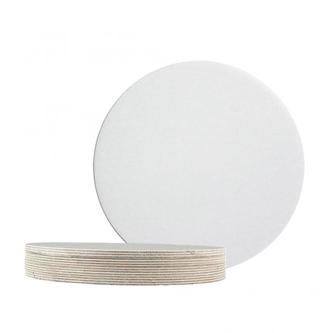 The Cake Decorating Co. White Round Poly Coated Cake Card - Choose A Size
