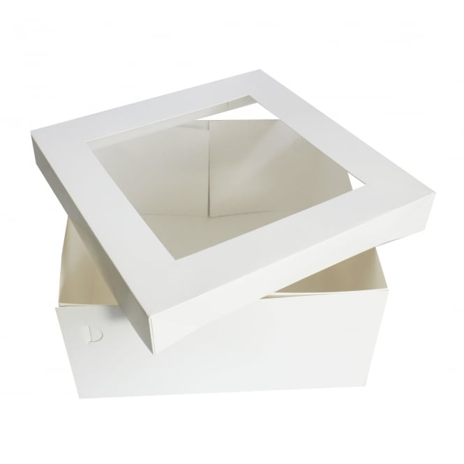 The Cake Decorating Co. White - Square Satin Finish Cake Box - Choose A Size