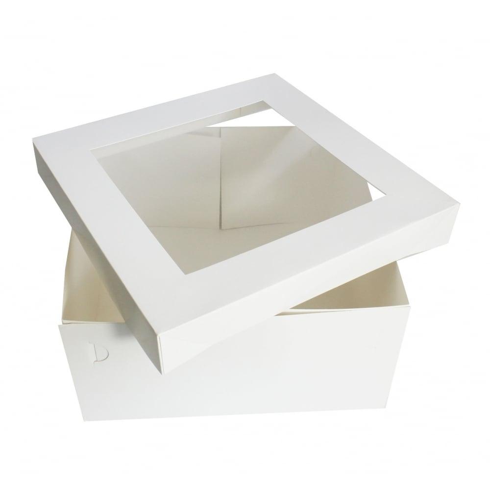 White Square Satin Finish Cake Box Cakes Boxes