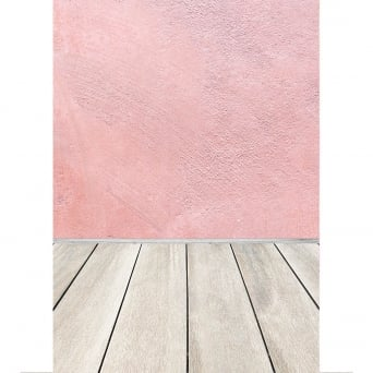 Wood Floor With Pink Wall Photography Backdrop